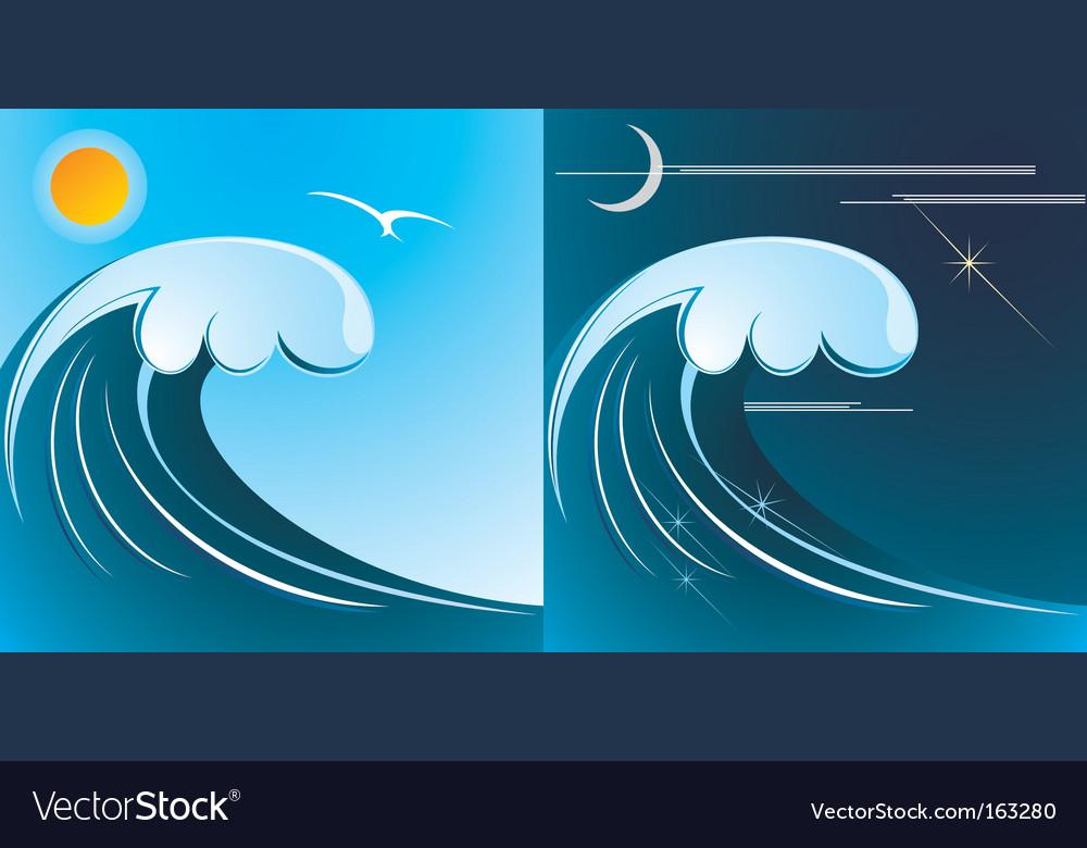 Tsunami vector | Price: 1 Credit (USD $1)