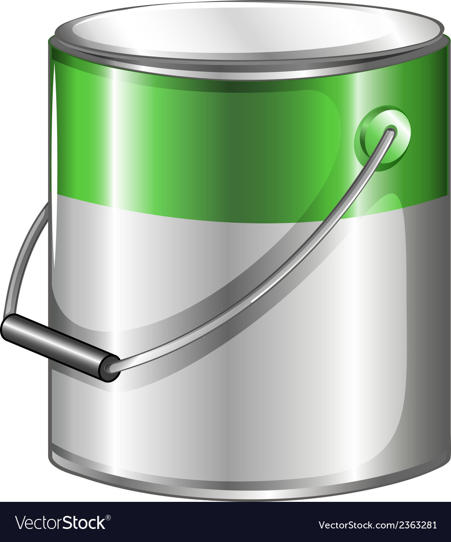 A can of green paint vector | Price: 1 Credit (USD $1)