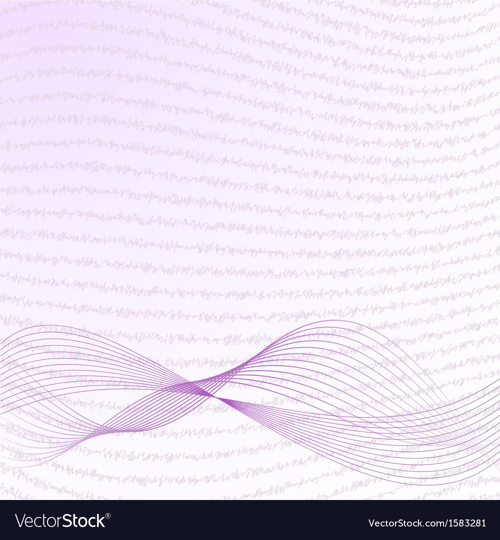 Abstract wave background in violet vector | Price: 1 Credit (USD $1)