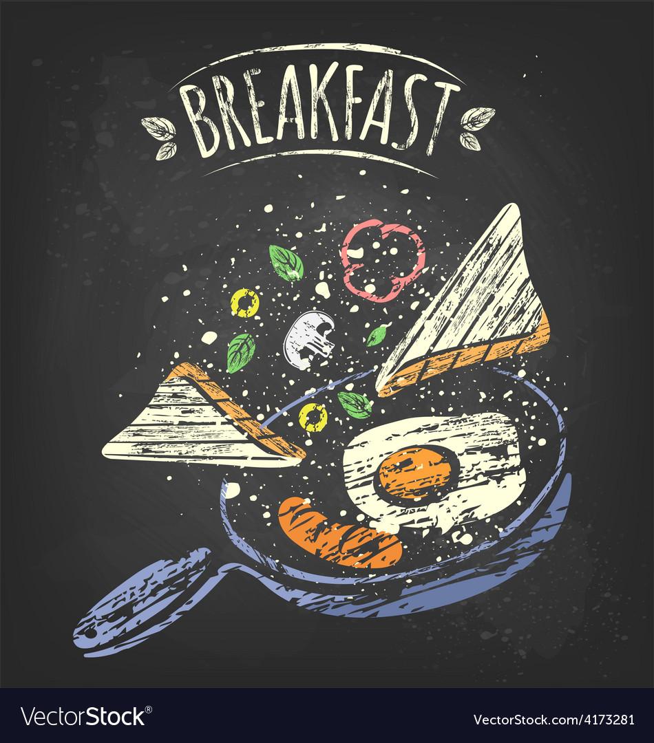 Breakfast poster vector | Price: 3 Credit (USD $3)