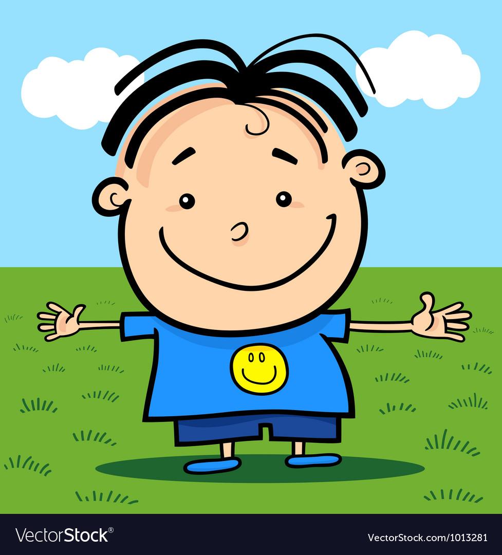 Cartoon cute little happy boy vector | Price: 3 Credit (USD $3)