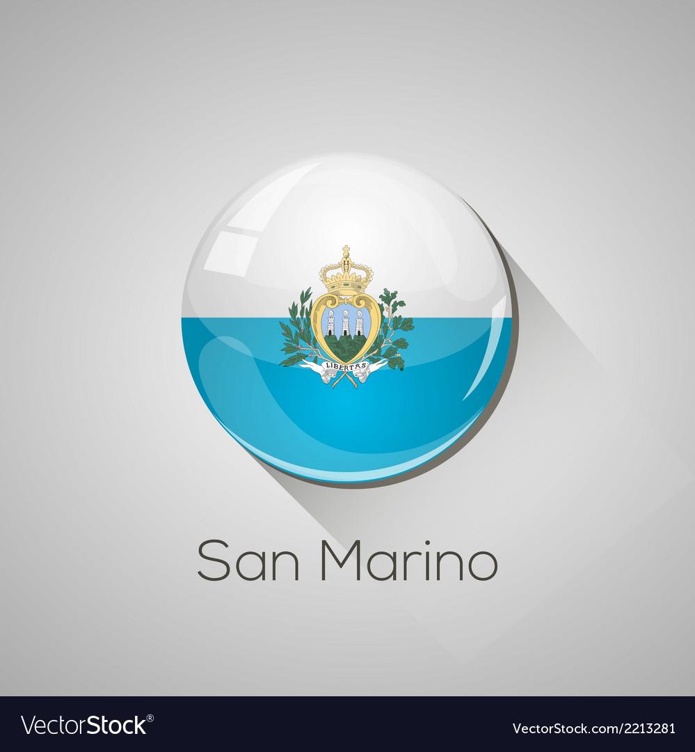 European flags set - san marino vector | Price: 1 Credit (USD $1)