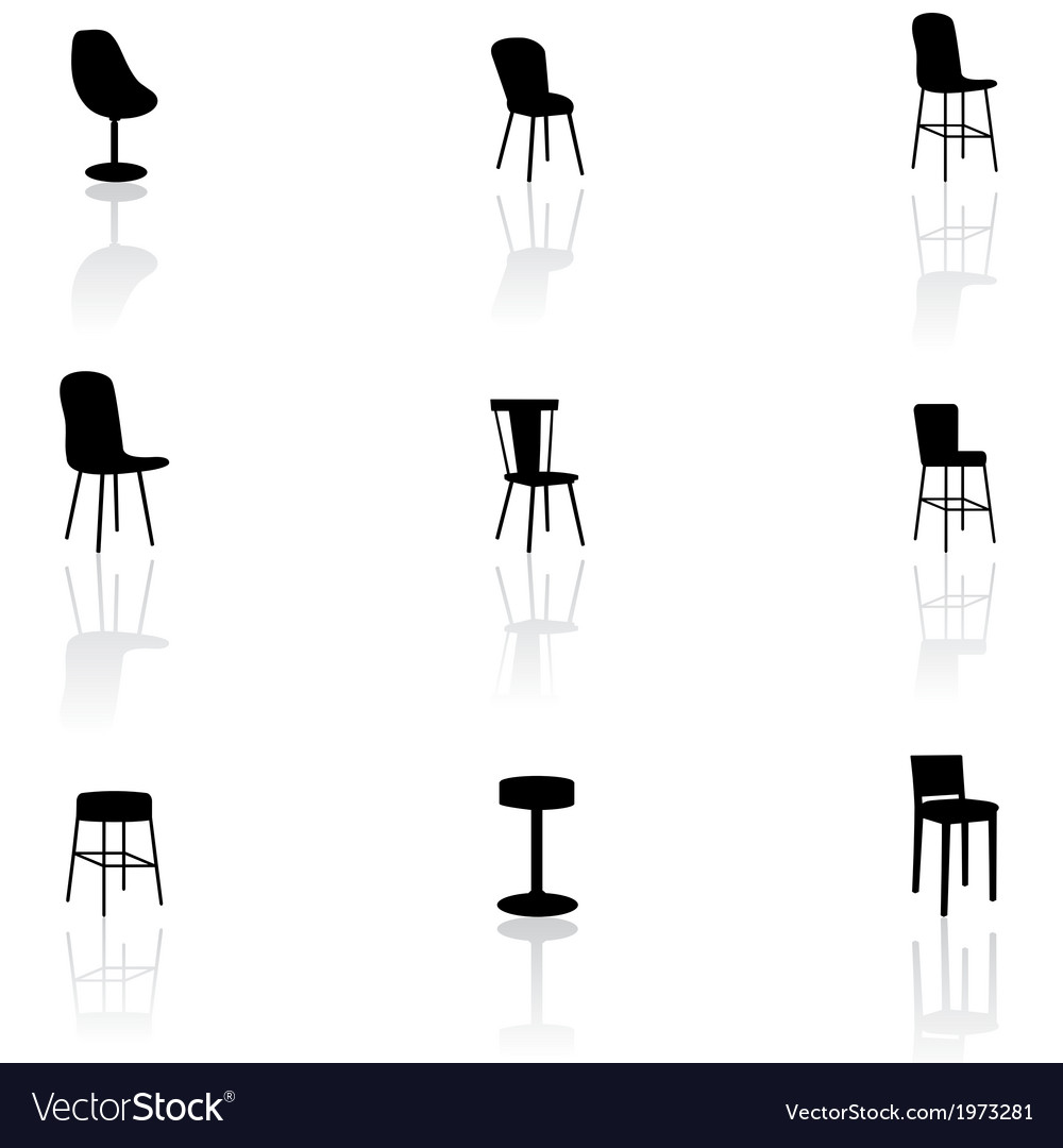 Furniture icons - chairs vector | Price: 1 Credit (USD $1)