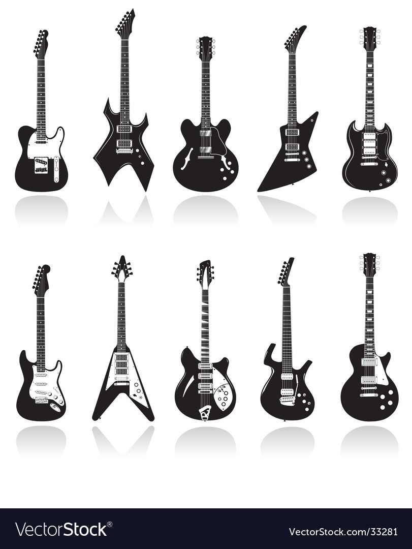 Guitars vector | Price: 1 Credit (USD $1)