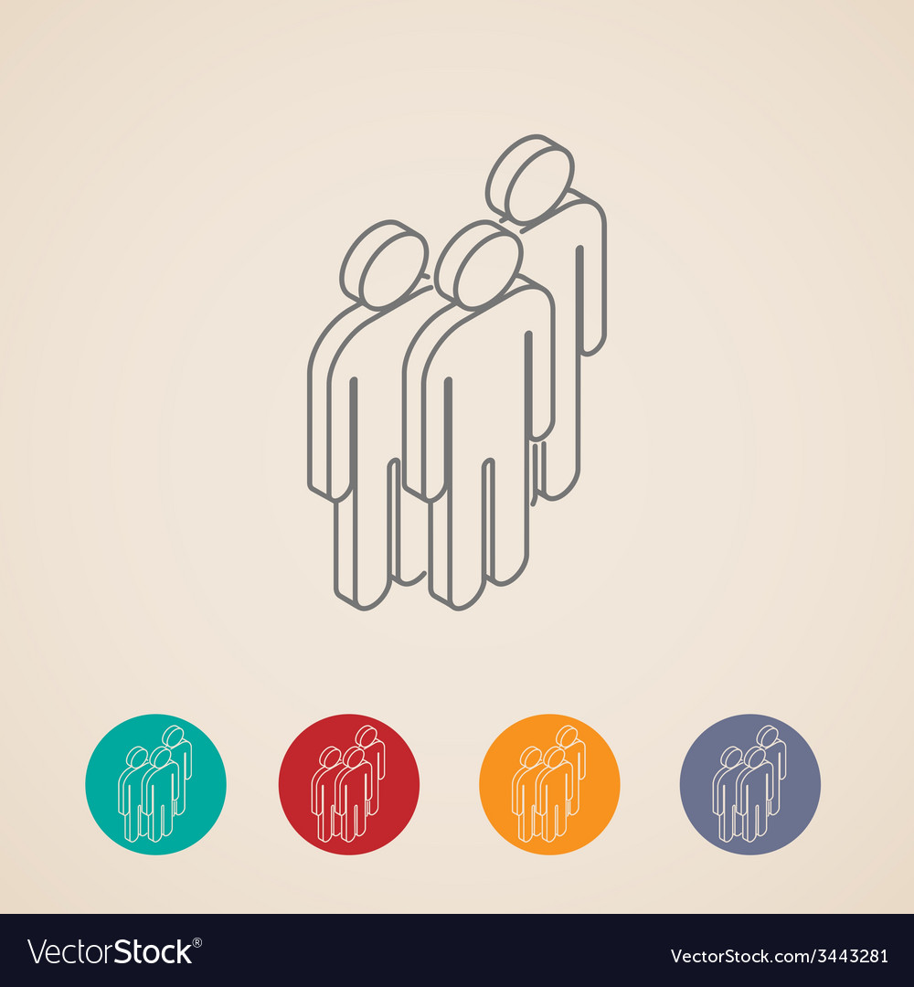 Isometric icons of people group vector   Price: 1 Credit (USD $1)