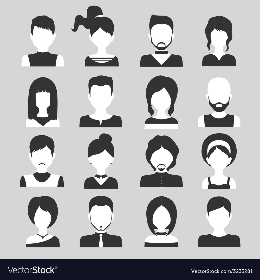 People avatar set vector | Price: 1 Credit (USD $1)