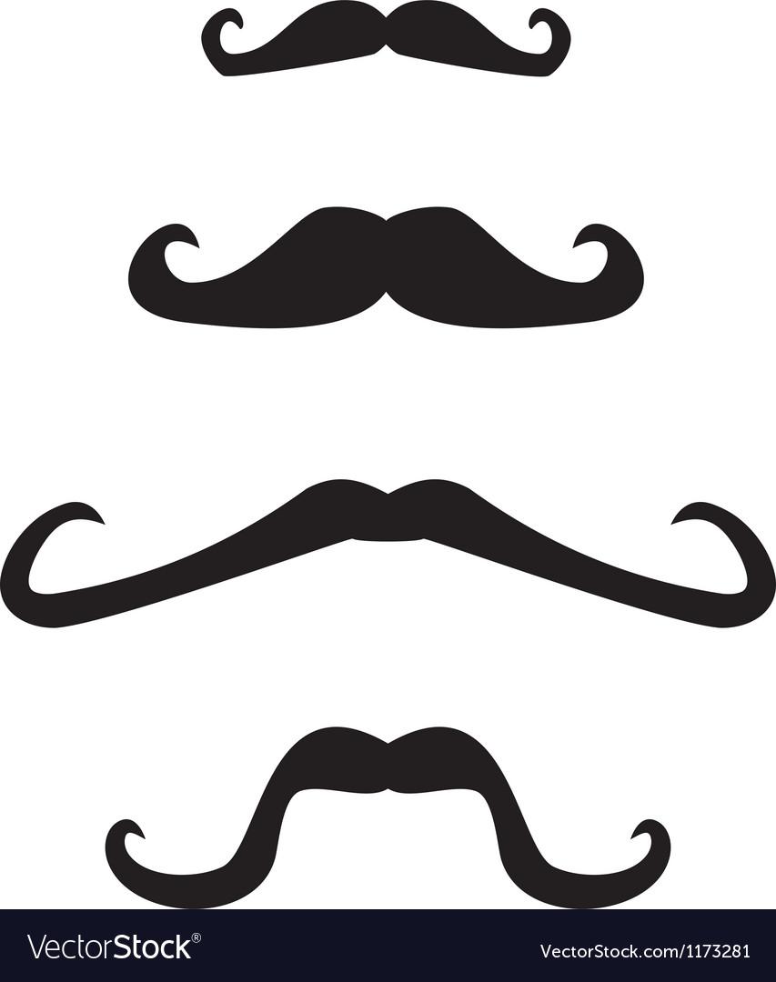 Set of curly vintage retro gentleman mustaches vector | Price: 1 Credit (USD $1)