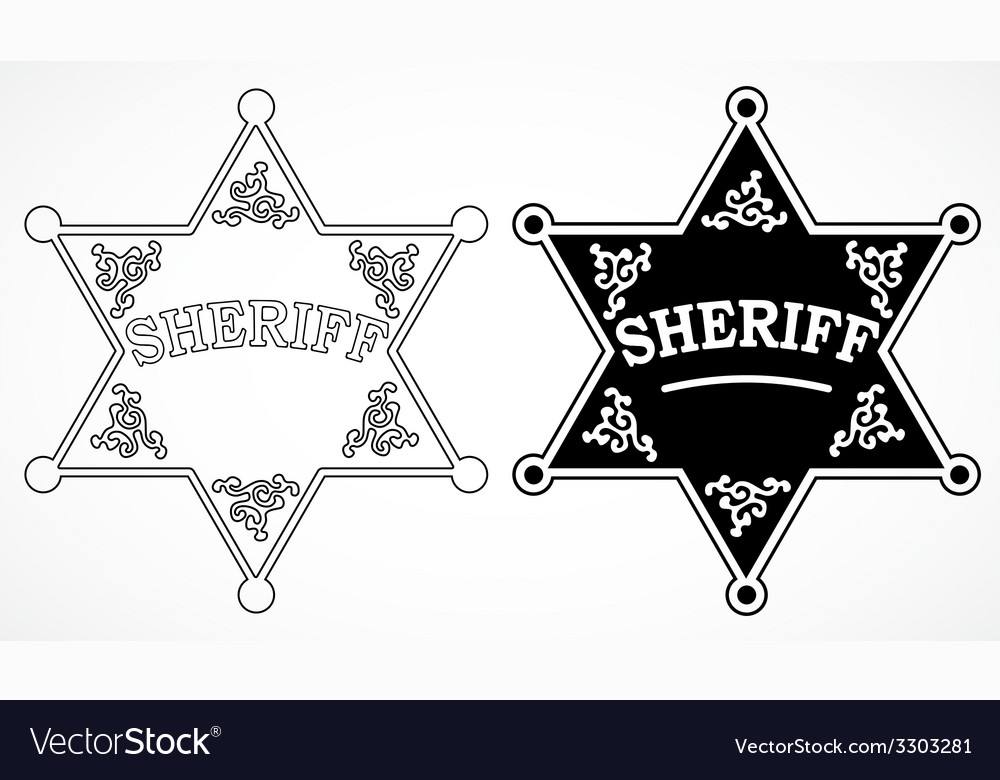 Sheriff stars vector | Price: 1 Credit (USD $1)
