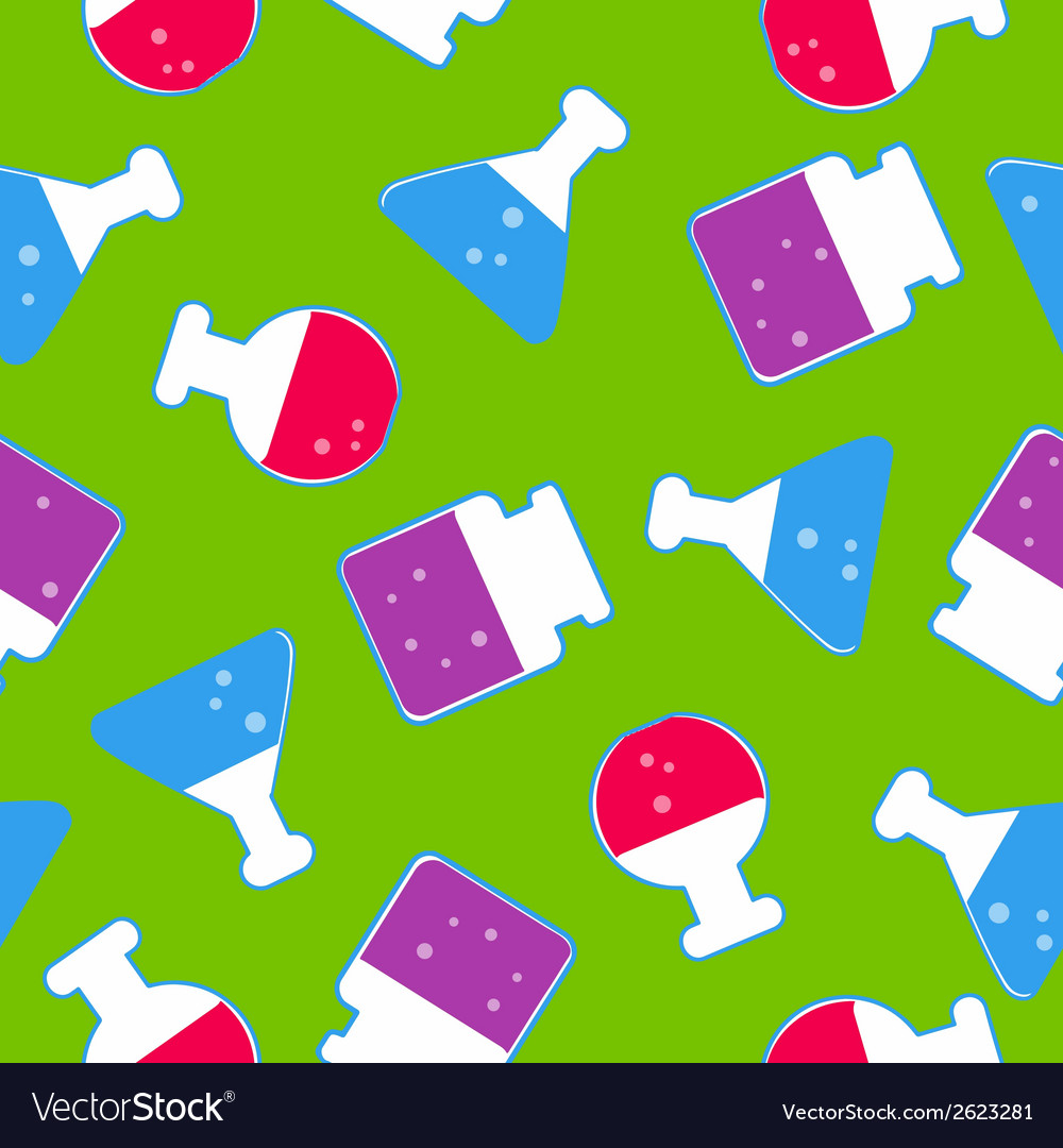 Transparent flasks seamless pattern vector | Price: 1 Credit (USD $1)