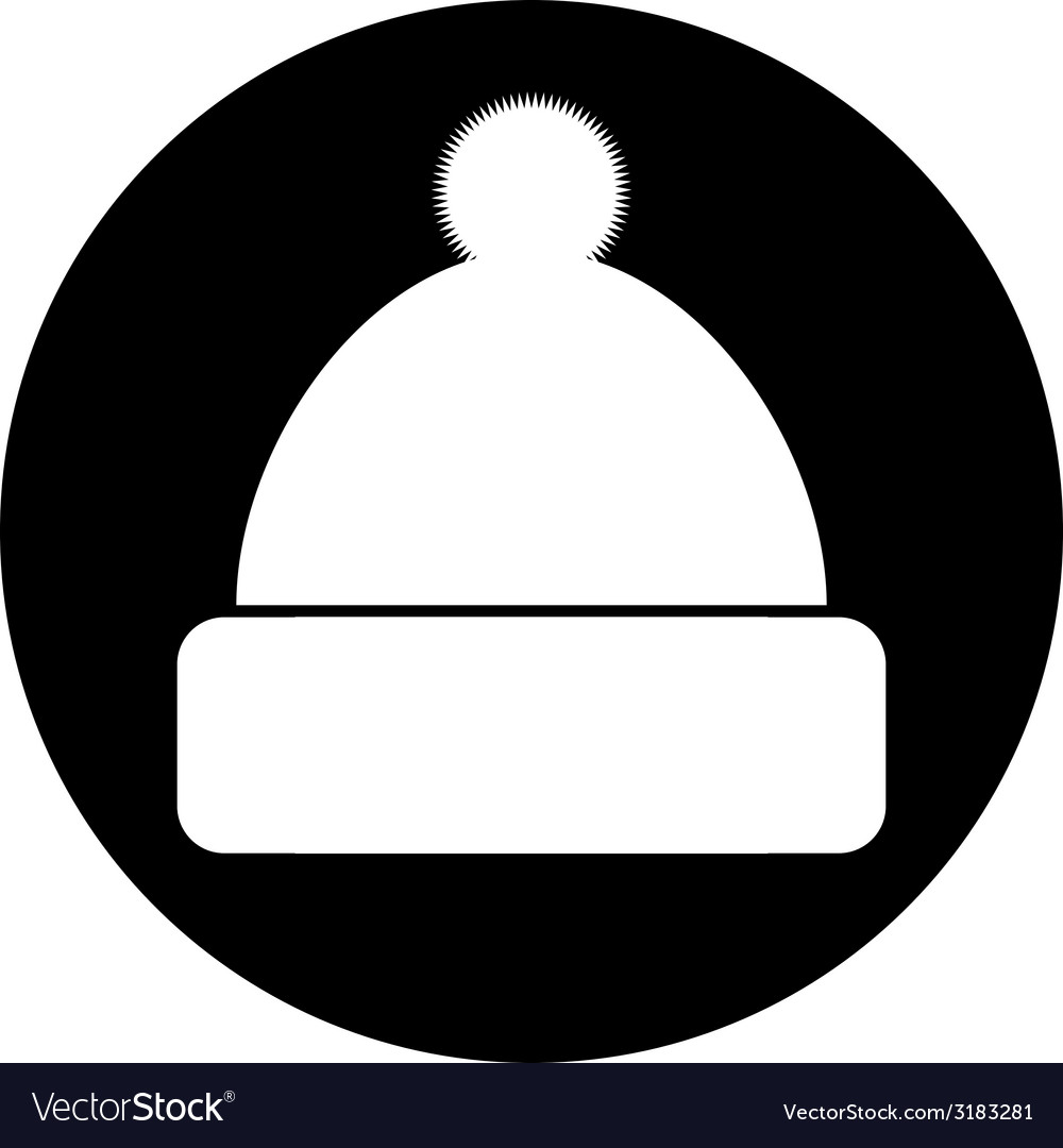 Winter hat symbol button vector | Price: 1 Credit (USD $1)