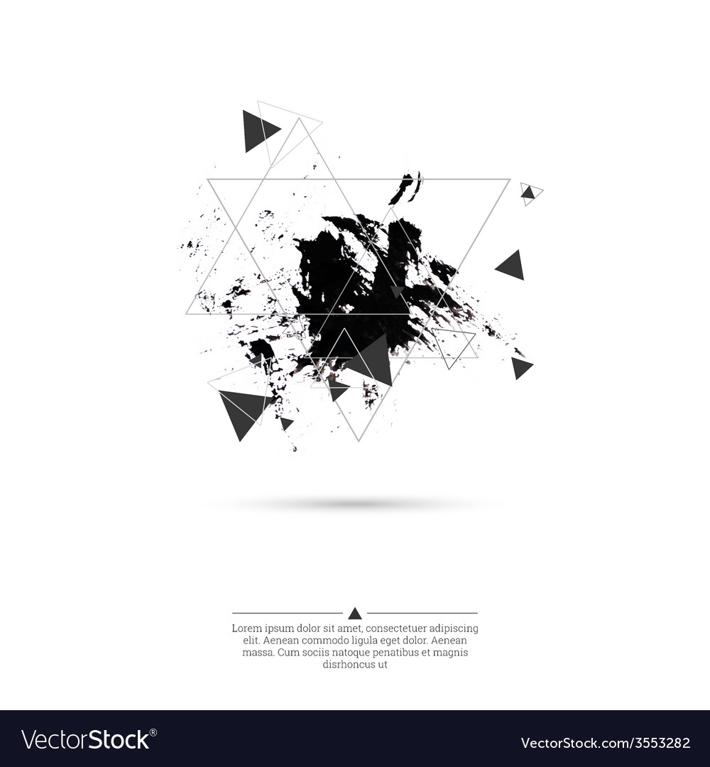 Abstract background with triangles vector | Price: 1 Credit (USD $1)