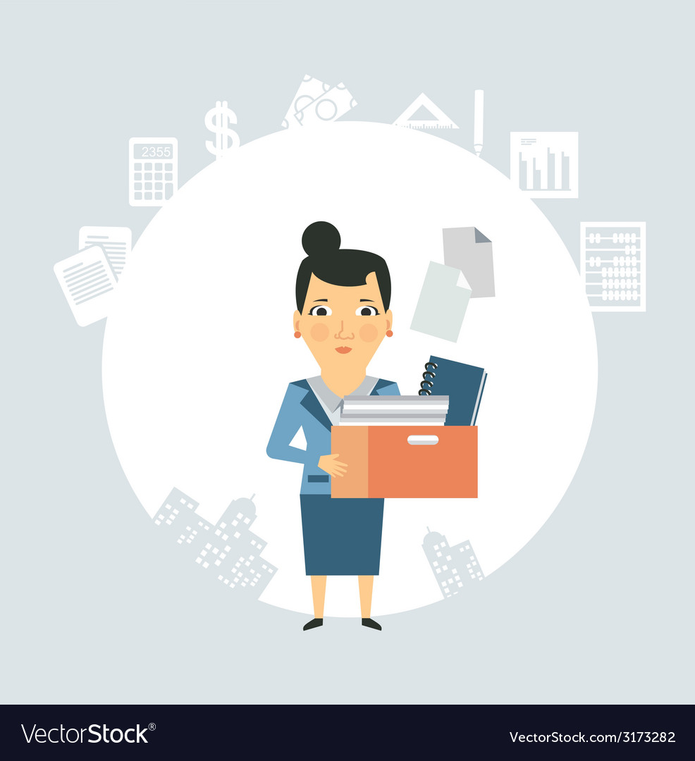 Accountant is documents and accounts vector | Price: 1 Credit (USD $1)