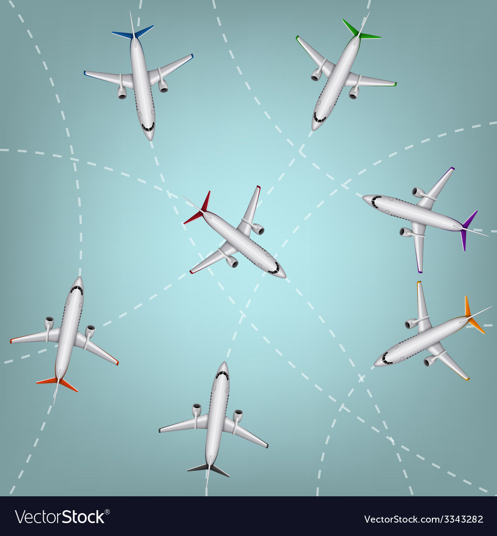 Airplanes routes vector | Price: 1 Credit (USD $1)