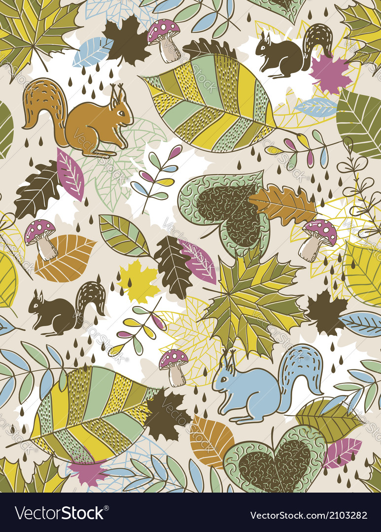 Background of hand draw leafs suitable wrapping p vector | Price: 1 Credit (USD $1)