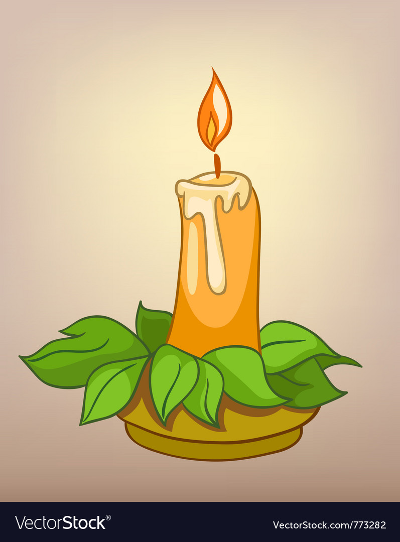 Cartoons decoration candle vector | Price: 1 Credit (USD $1)