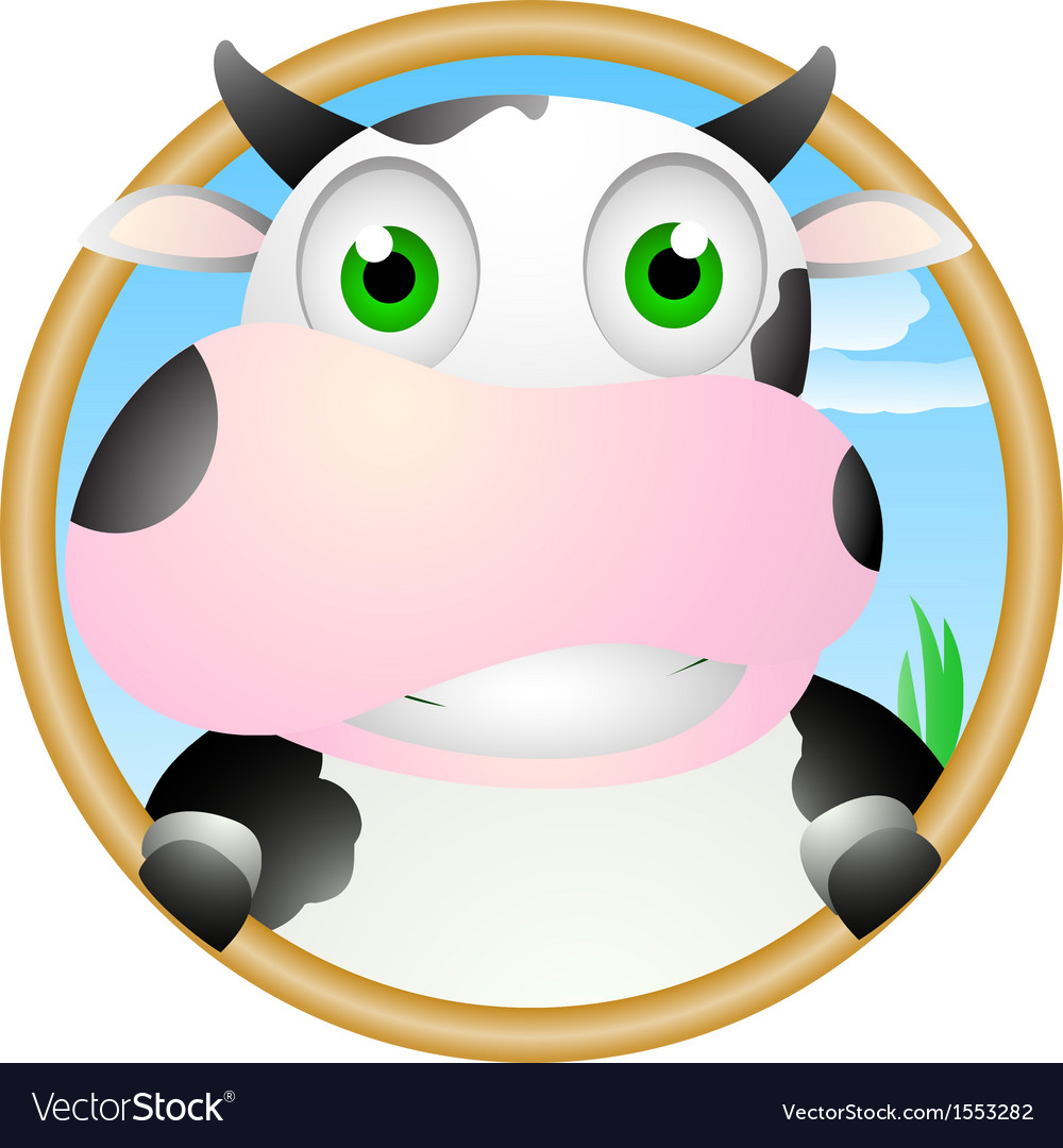 Cute cow face vector | Price: 1 Credit (USD $1)