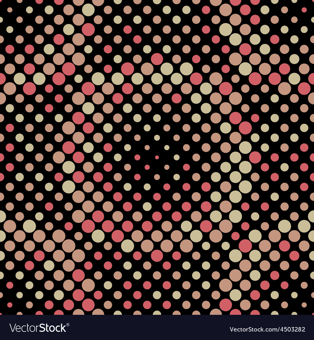 Halftone circle tiles warm colors seamless pattern vector | Price: 1 Credit (USD $1)