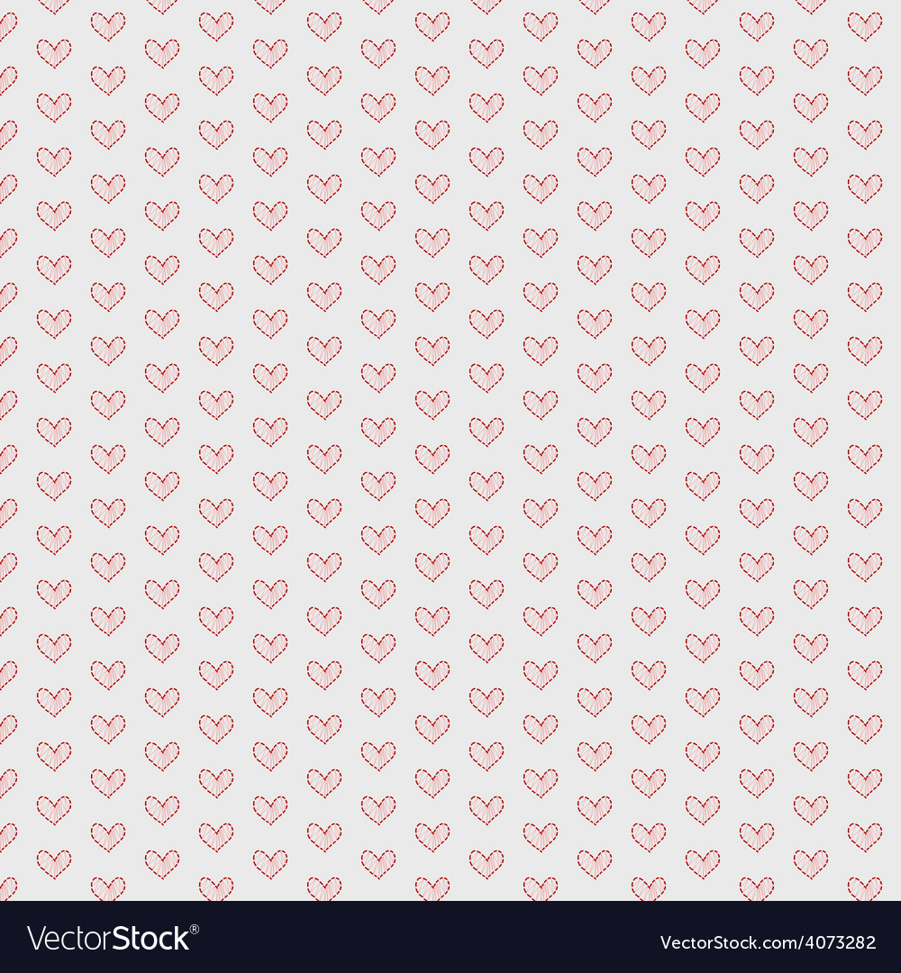 Hearts seamless pattern background vector | Price: 1 Credit (USD $1)