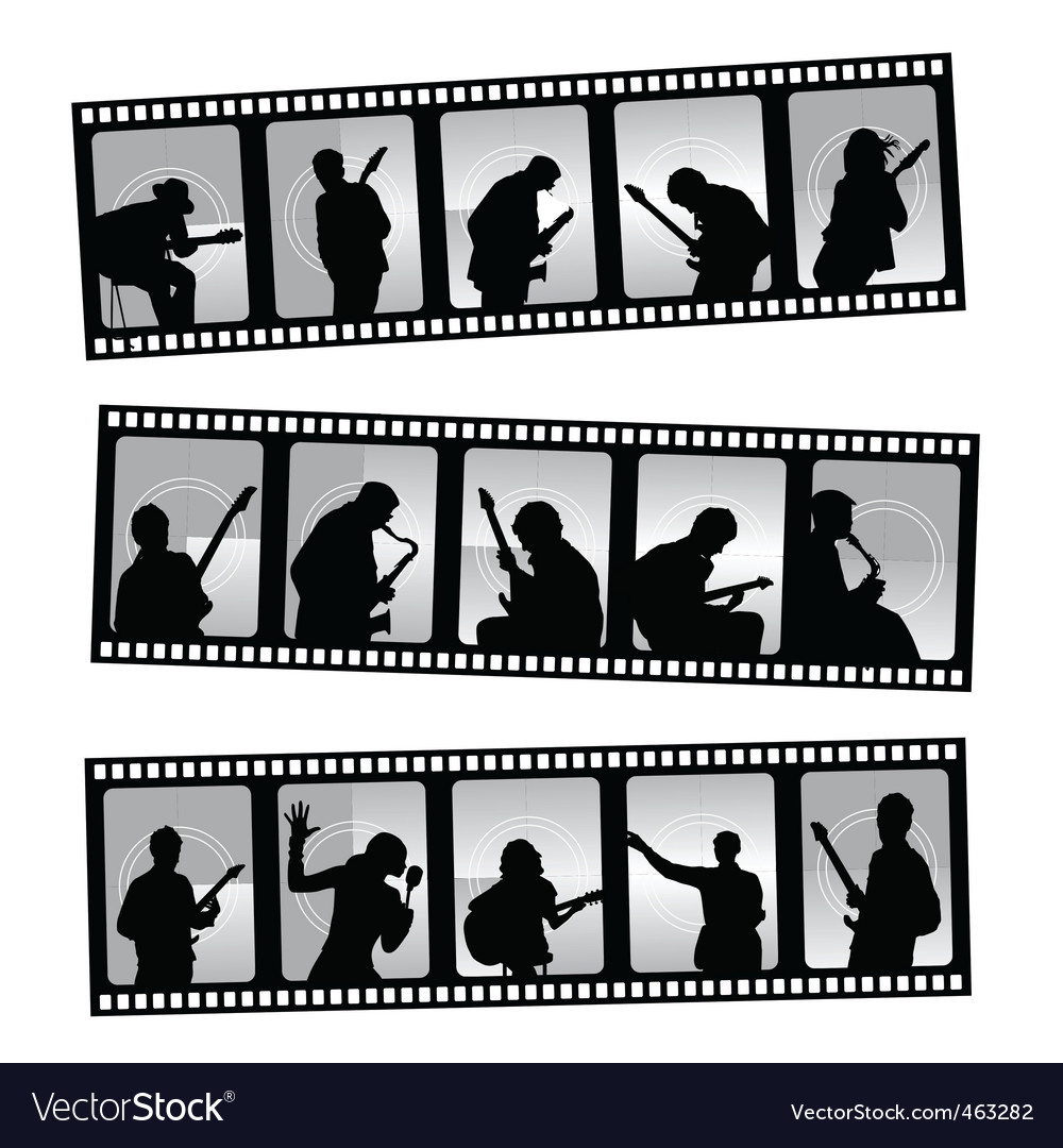 Music filmstrip vector | Price: 1 Credit (USD $1)
