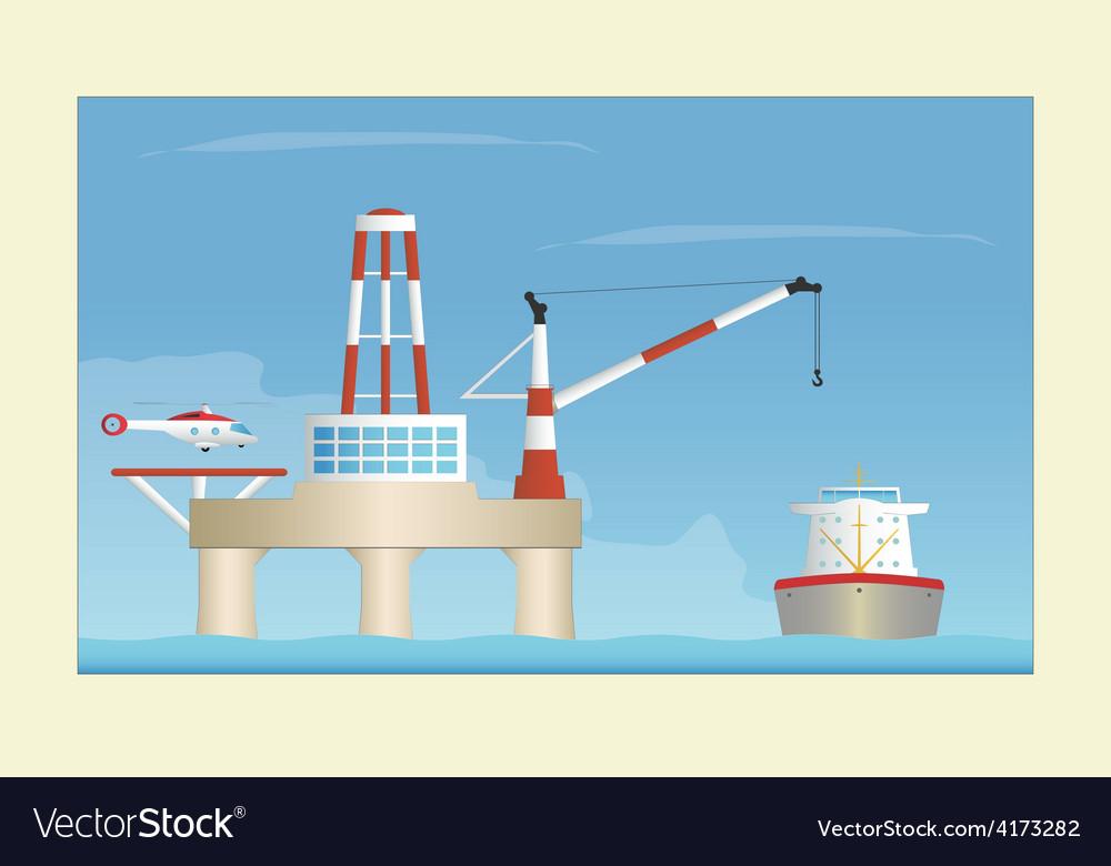 Offshore platform vector | Price: 1 Credit (USD $1)
