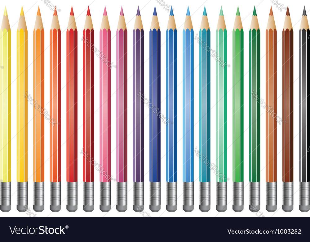 Pencils with eraser vector | Price: 1 Credit (USD $1)