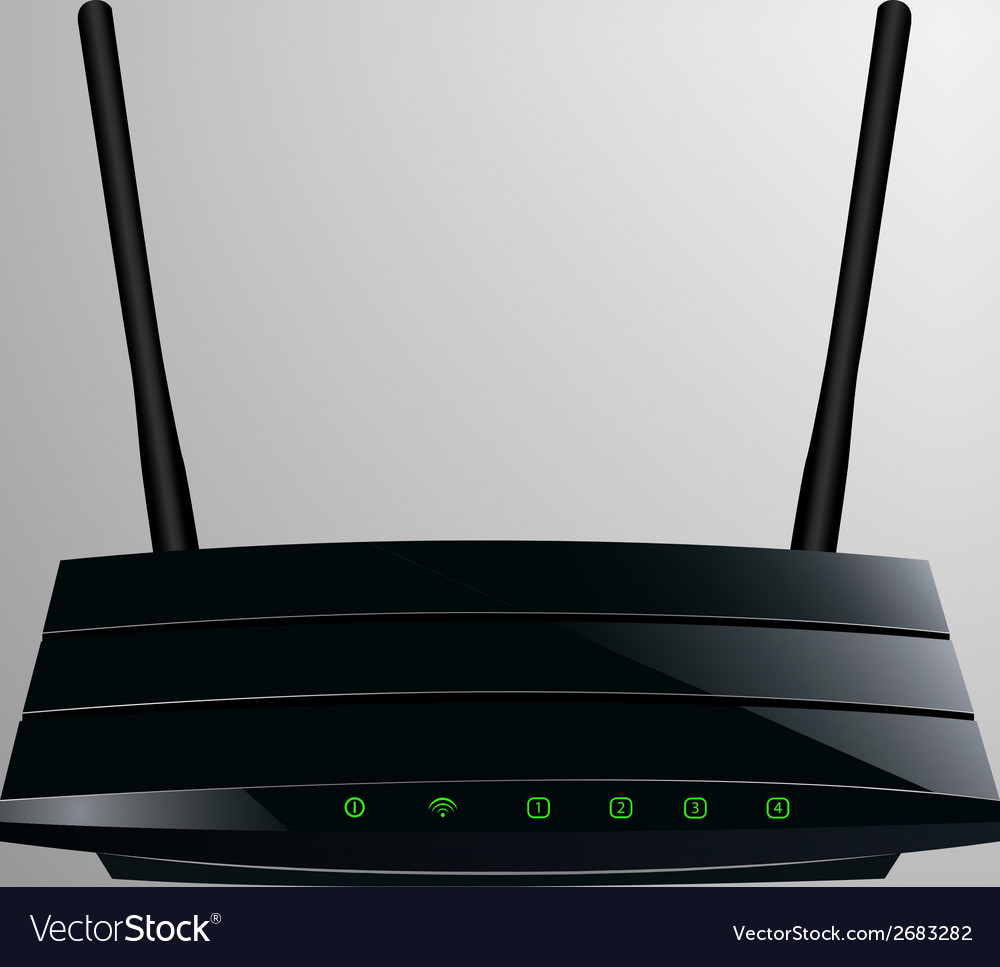 Realistic of a black router vector | Price: 1 Credit (USD $1)