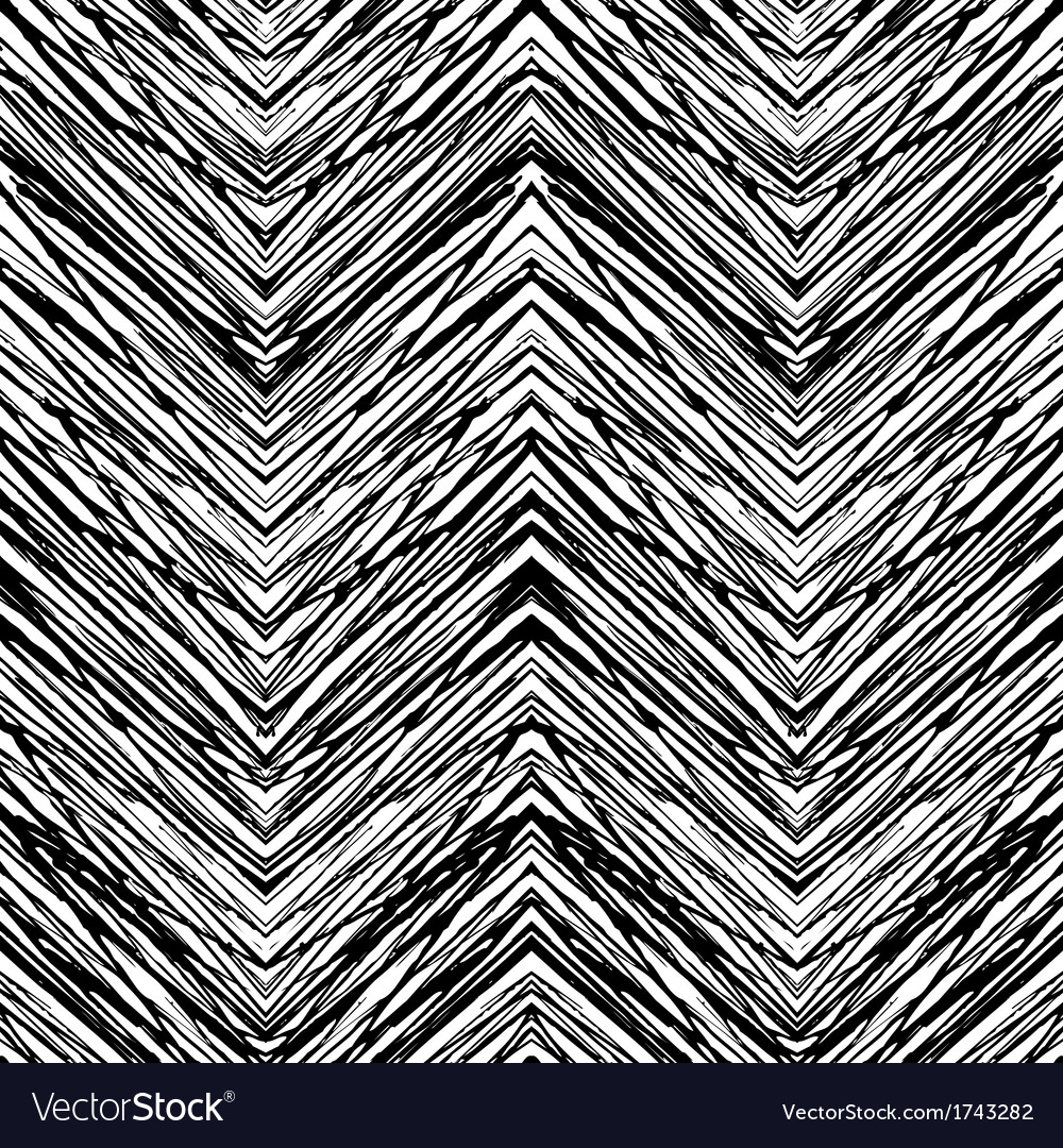 Seamless pattern with zigzag lines vector | Price: 1 Credit (USD $1)