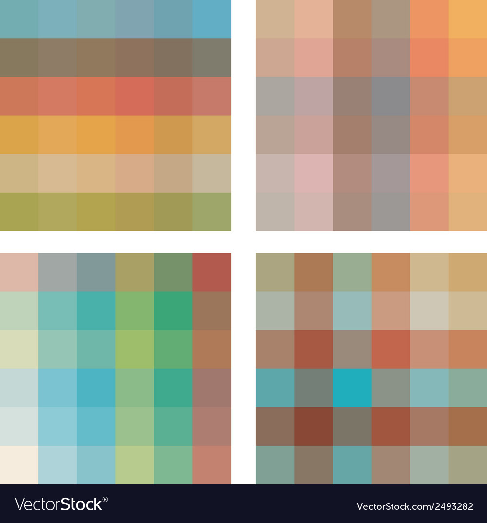 Set of geometric seamless patterns vector | Price: 1 Credit (USD $1)