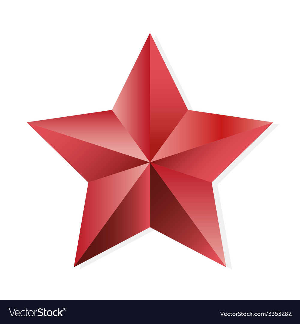 Star ruby isolated object vector | Price: 1 Credit (USD $1)