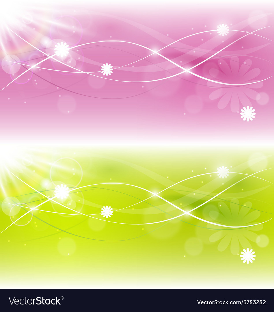 Two abstract spring background with sunlight vector | Price: 1 Credit (USD $1)