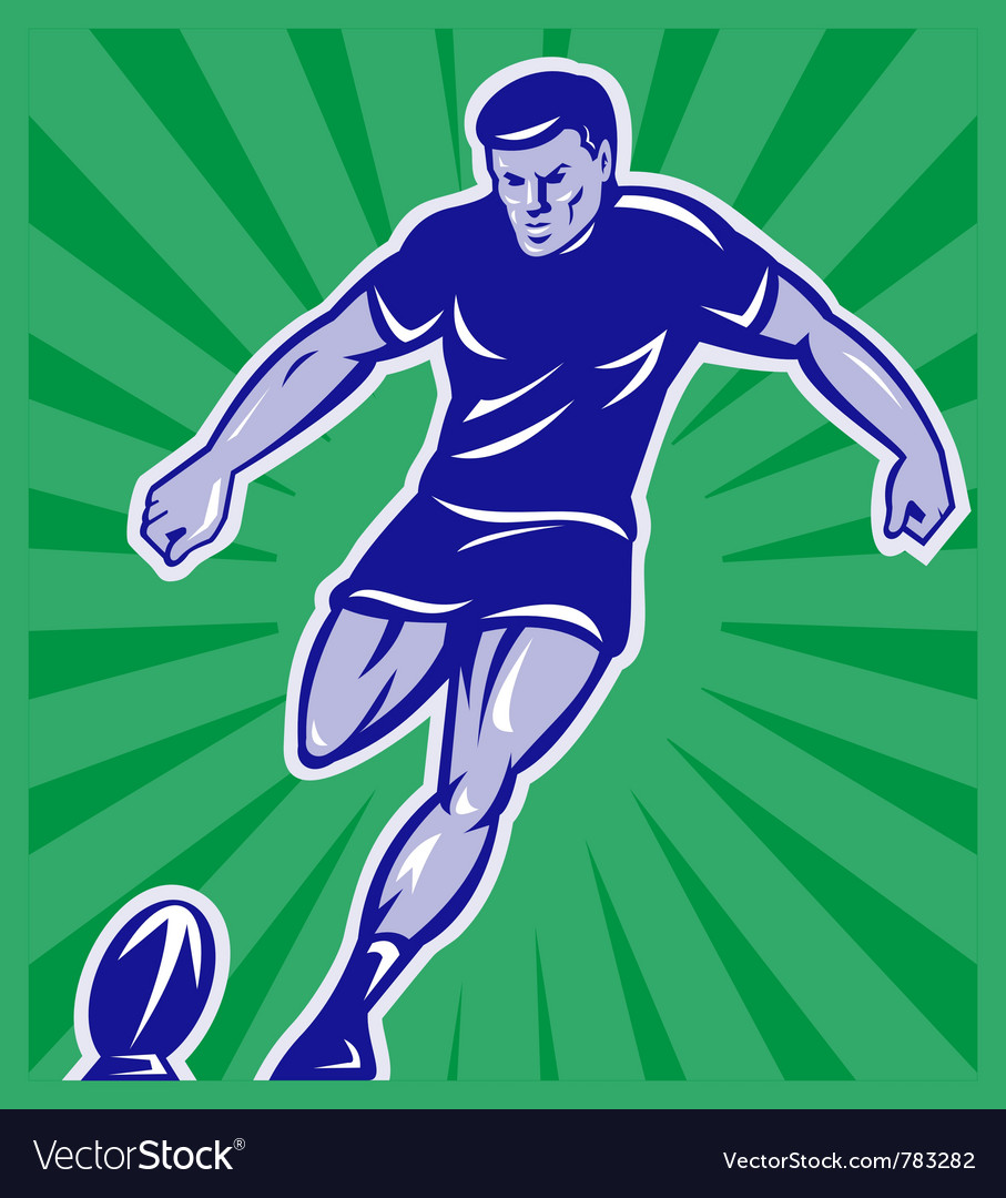 Vintage rugby background vector | Price: 1 Credit (USD $1)