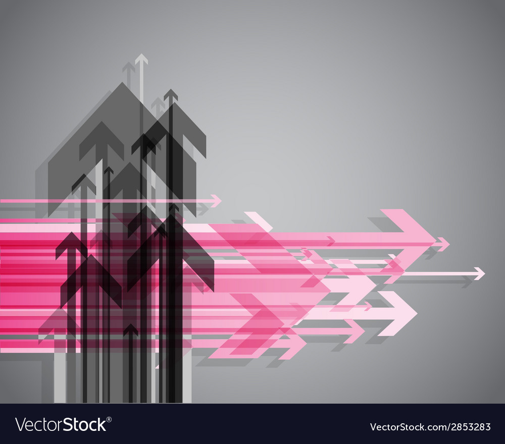Abstract background with colorful arrows vector | Price: 1 Credit (USD $1)