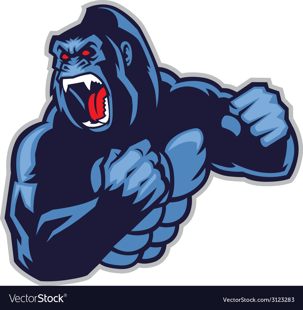 Angry big gorilla vector | Price: 1 Credit (USD $1)
