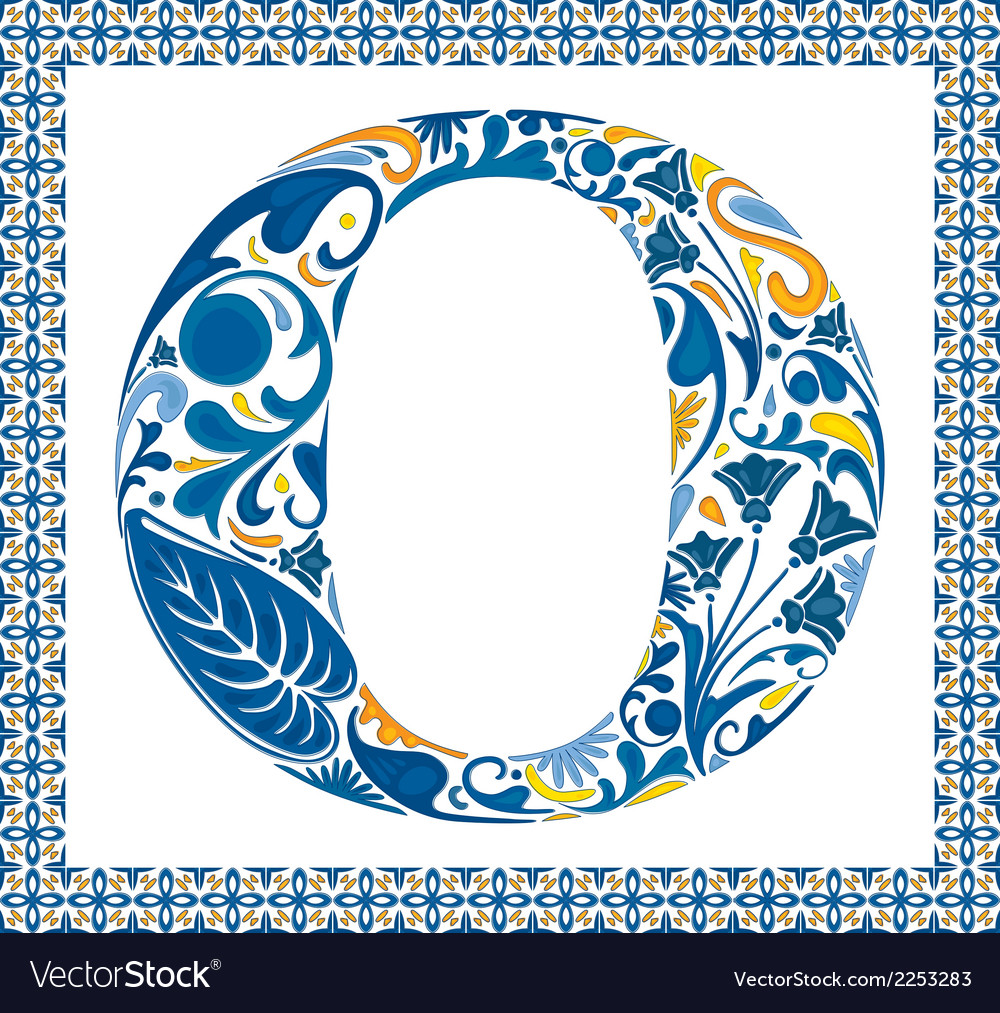 Blue letter o vector | Price: 1 Credit (USD $1)