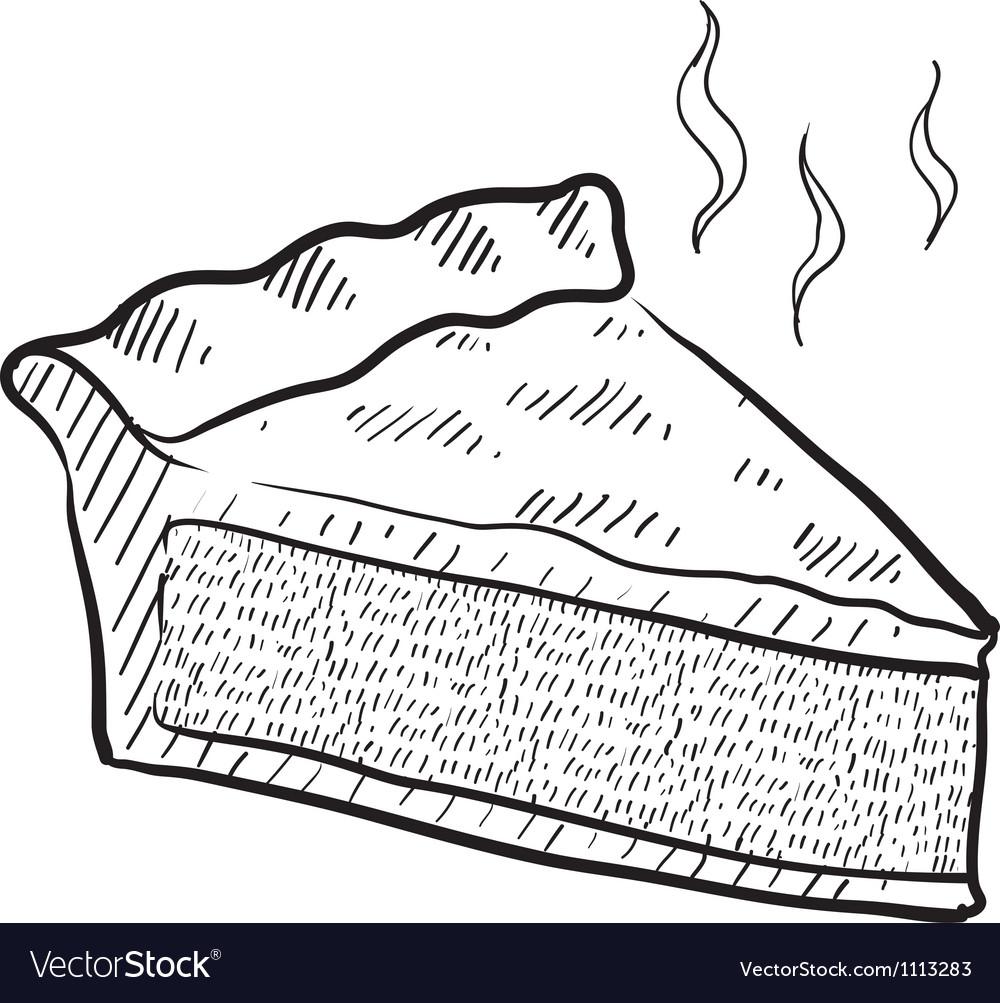Doodle pie slice vector | Price: 1 Credit (USD $1)