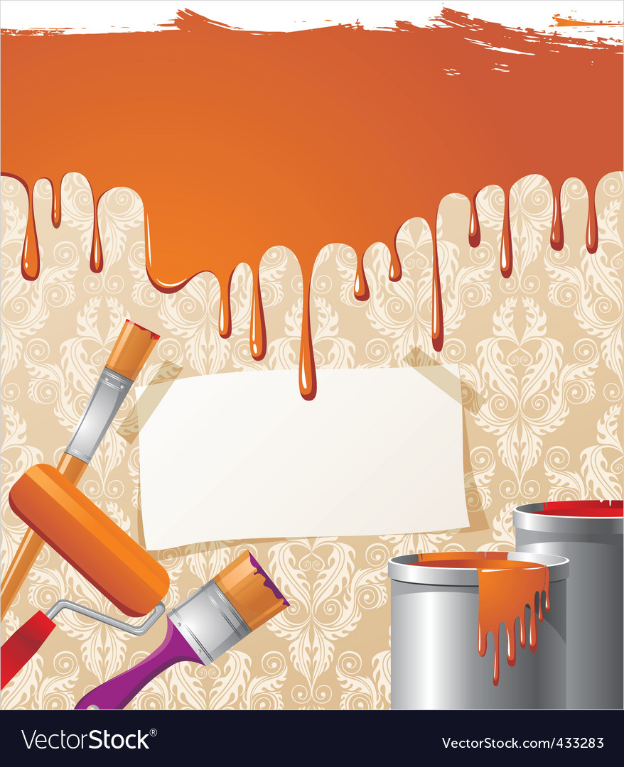 Paint on wallpaper background vector | Price: 1 Credit (USD $1)