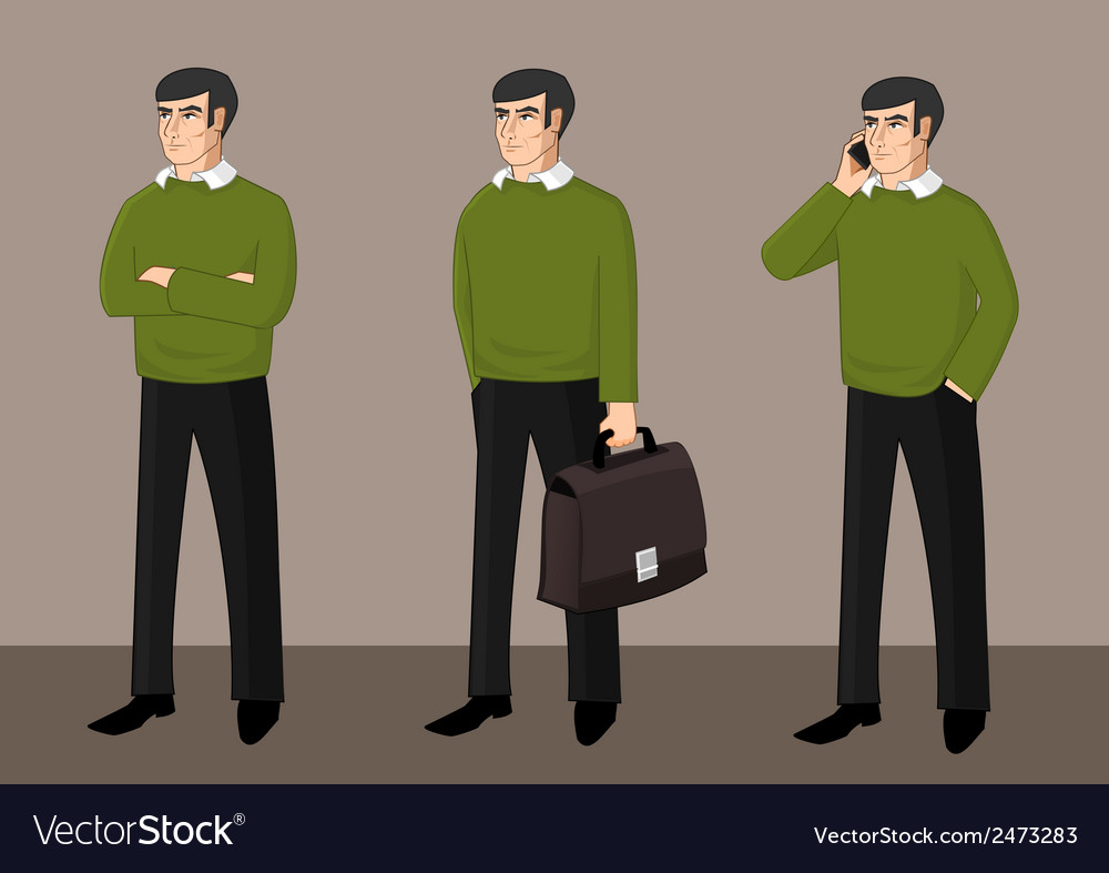 Set of businessman activity vector | Price: 1 Credit (USD $1)