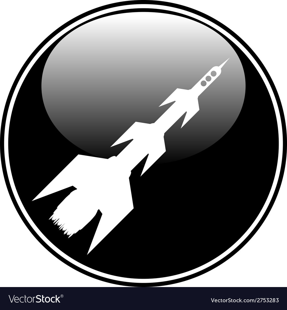 Starting rocket button vector | Price: 1 Credit (USD $1)