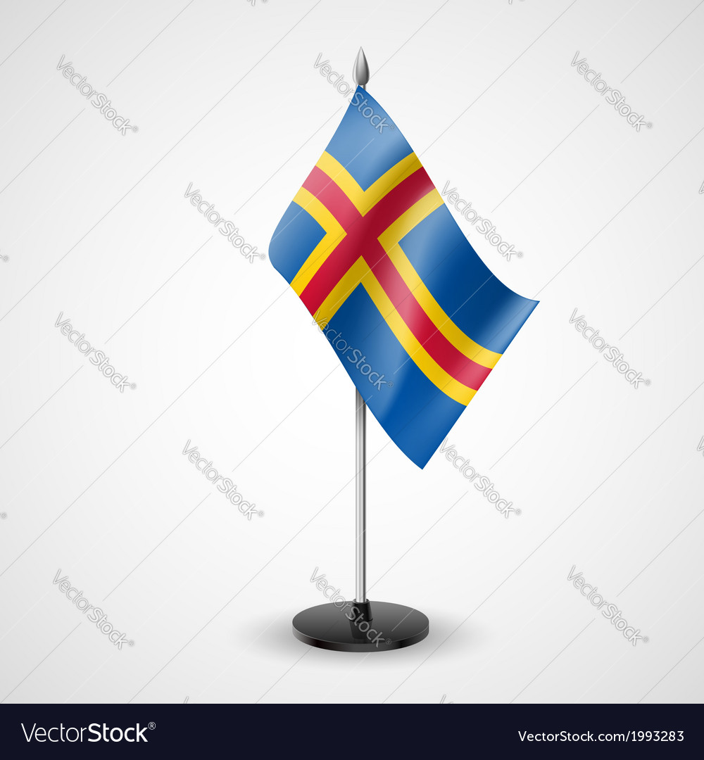 Table flag of aland islands vector | Price: 1 Credit (USD $1)