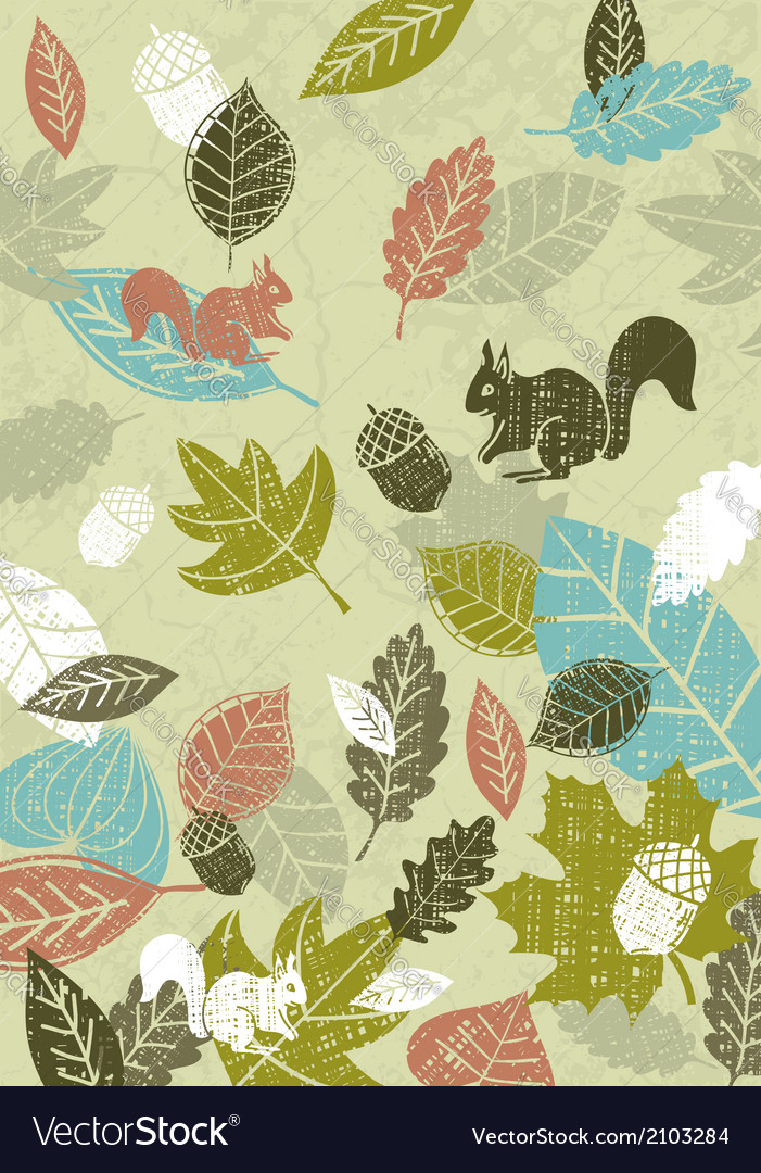 Background of hand draw leafs vector | Price: 1 Credit (USD $1)