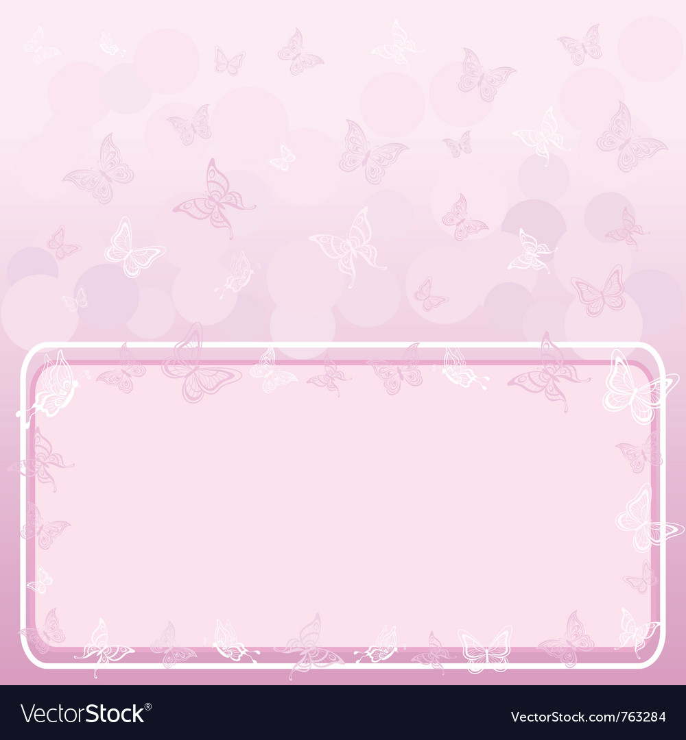 Butterflies and frame vector | Price: 1 Credit (USD $1)
