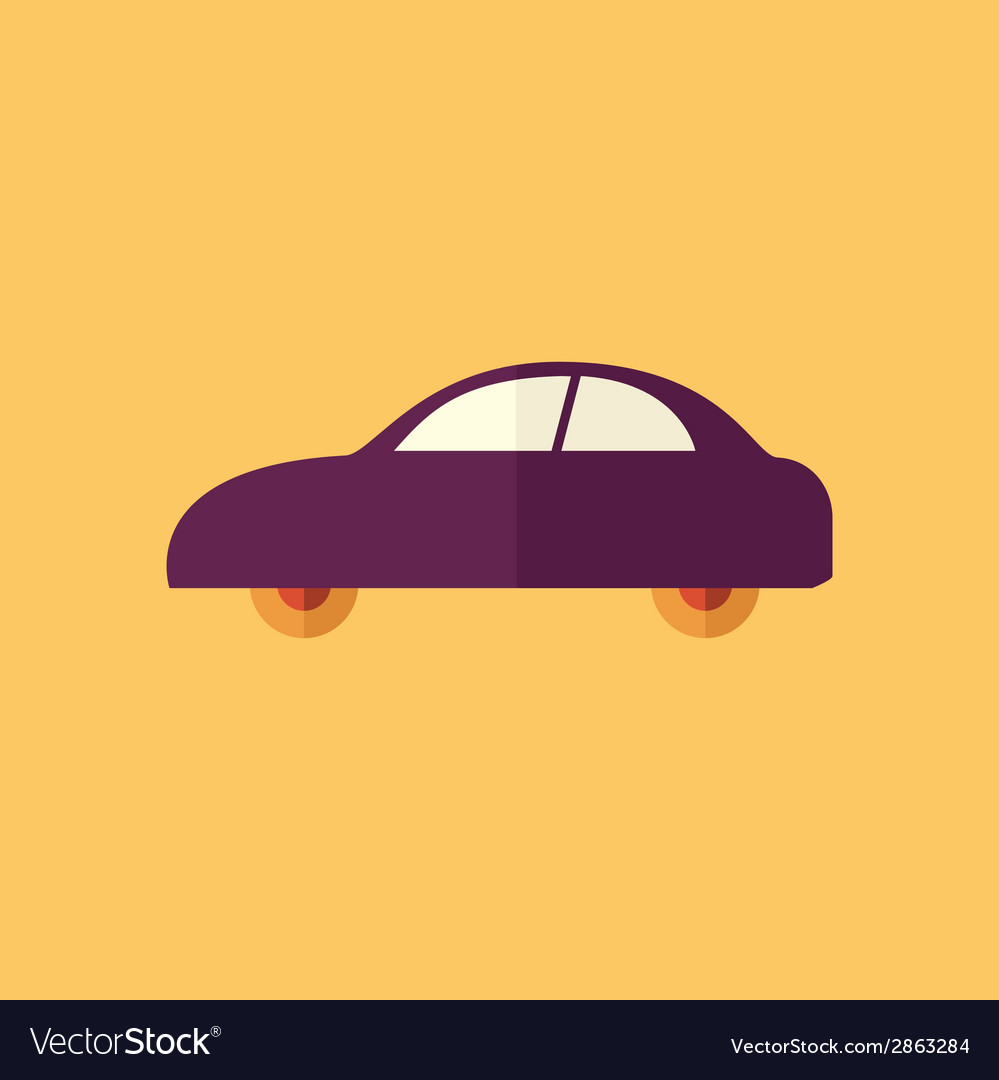 Car transportation flat icon vector | Price: 1 Credit (USD $1)