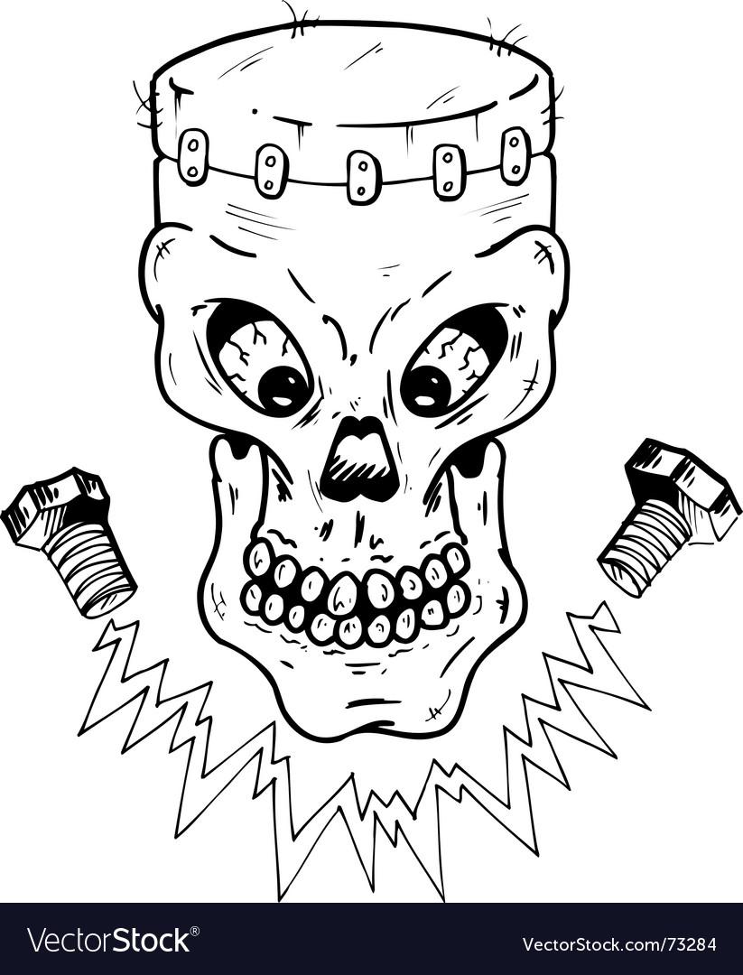 Frankenstein skull vector | Price: 1 Credit (USD $1)