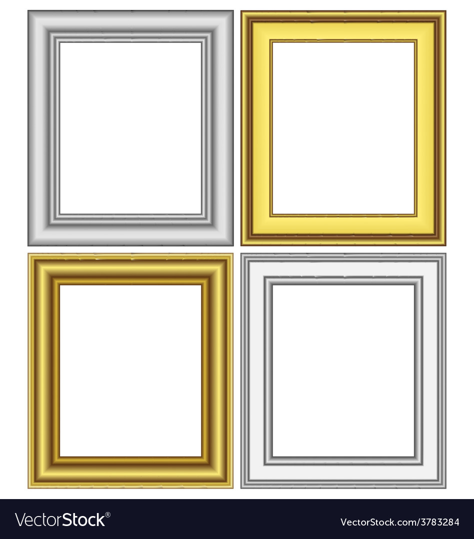 Golden and silver frames vector | Price: 1 Credit (USD $1)