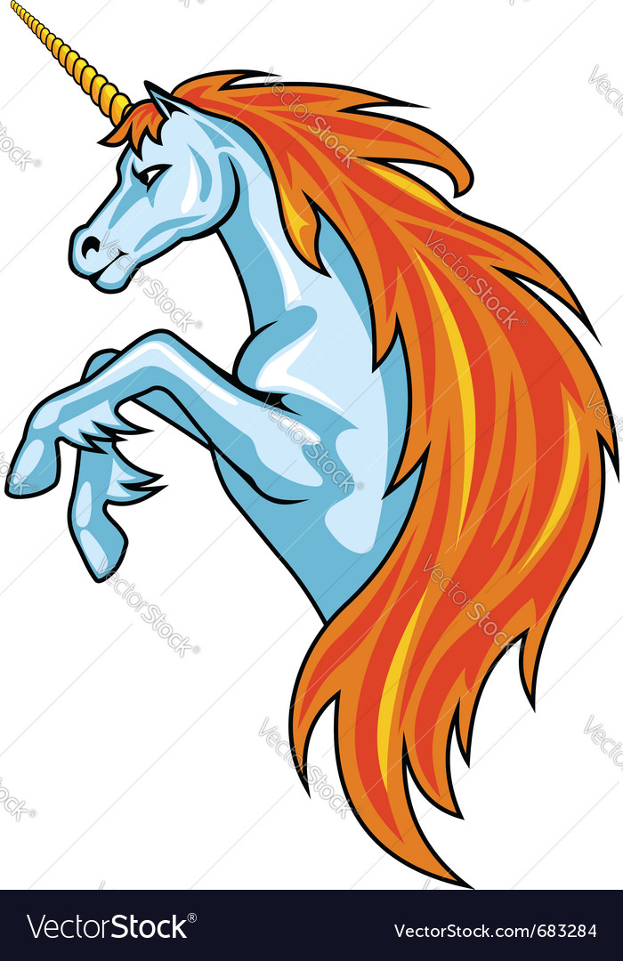 Magic unicorn horse vector | Price: 1 Credit (USD $1)