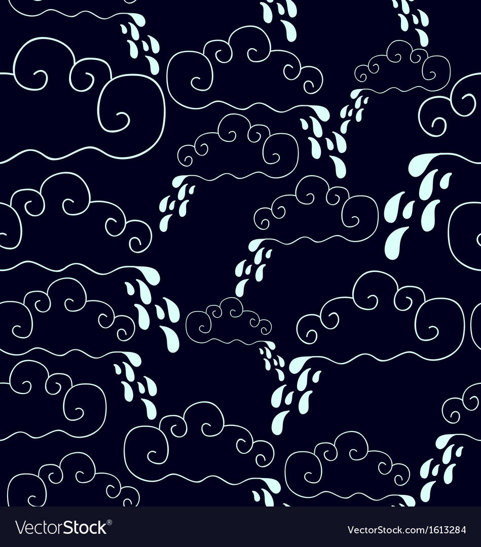 Seamless pattern of raining vector | Price: 1 Credit (USD $1)