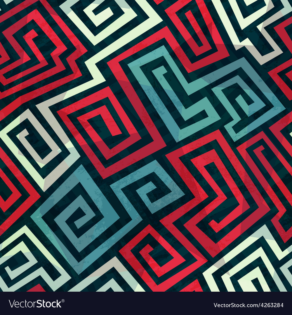 Spiral maze seamless pattern vector | Price: 1 Credit (USD $1)