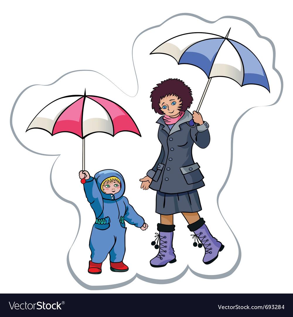 Under a rain vector | Price: 3 Credit (USD $3)