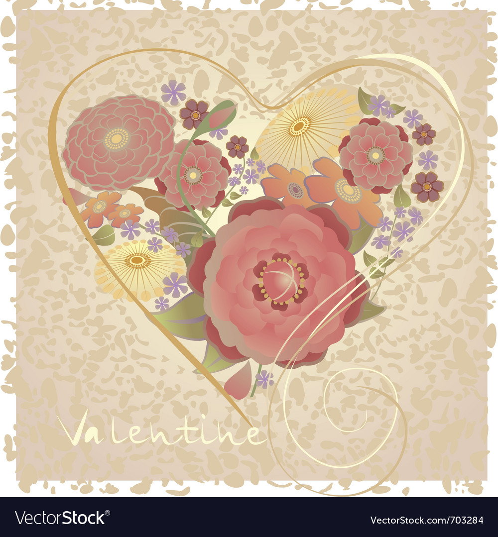 Valentine postcard vector | Price: 3 Credit (USD $3)
