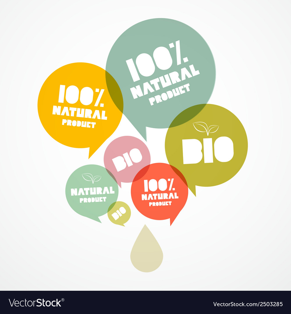 100 bio - natural transparent bubbles vector | Price: 1 Credit (USD $1)